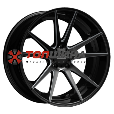 Fondmetal 11x22/5x127 ET38 D71,6 STC-10 Matt Black Milled